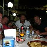Stefano, Patrizio, Daniele, Fabio de vacaciones en Mallorca
