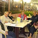Nuestros amigos y fundadores de SA FOGANYA Adolfo y Lola. Cena con  las familias Canals y Perello